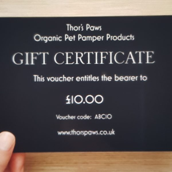 Thor's Paws Gift Certificate