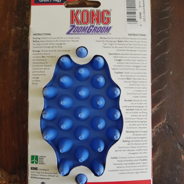 Kong Zoom Groom – Large Blue