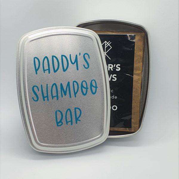 Personalised Shampoo Bar Storage Tin